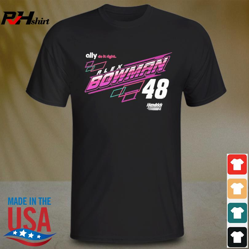 Alex Bowman Hendrick Motorsports Team Collection Car T-Shirt
