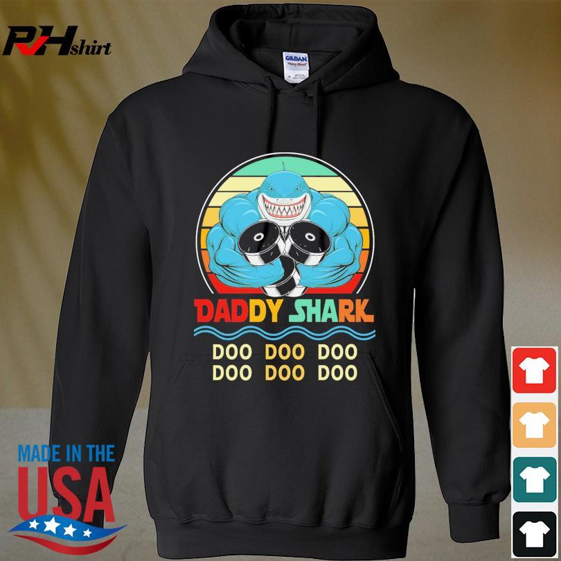 Official Daddy shark doo doo doo vintage s hoodie