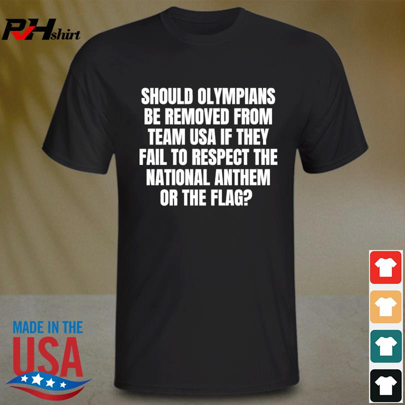 Official Should olympians be removed from team USA if they fail to respect the national anthem or the flag shirt