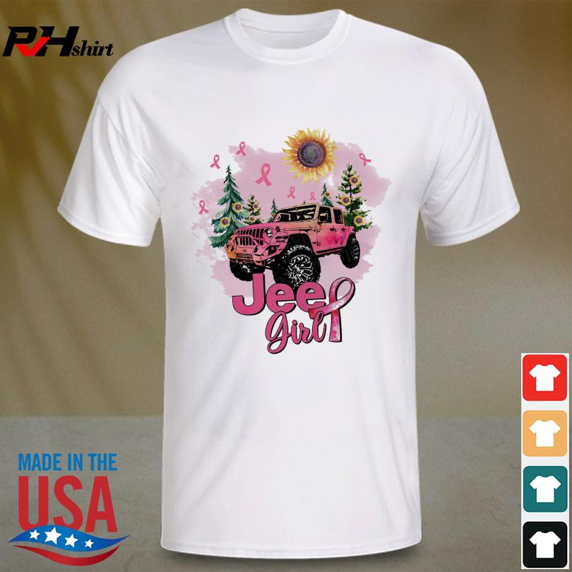Official Sunflower and Jeep Girl Breast Cancer shirt