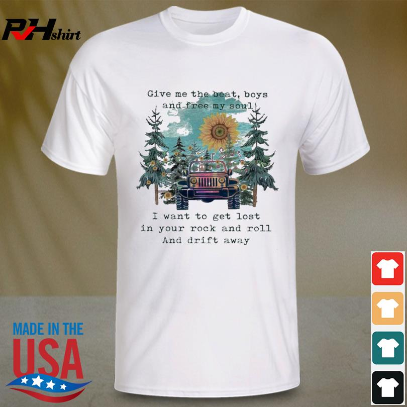 Official Sunflower and Jeep give me the beat boys and free my son shirt