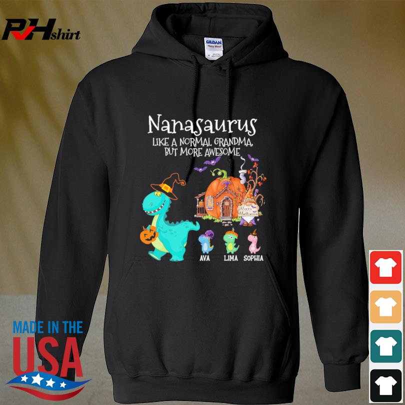 Personalized Nanasaurus Witch But More Awesome Halloween s hoodie