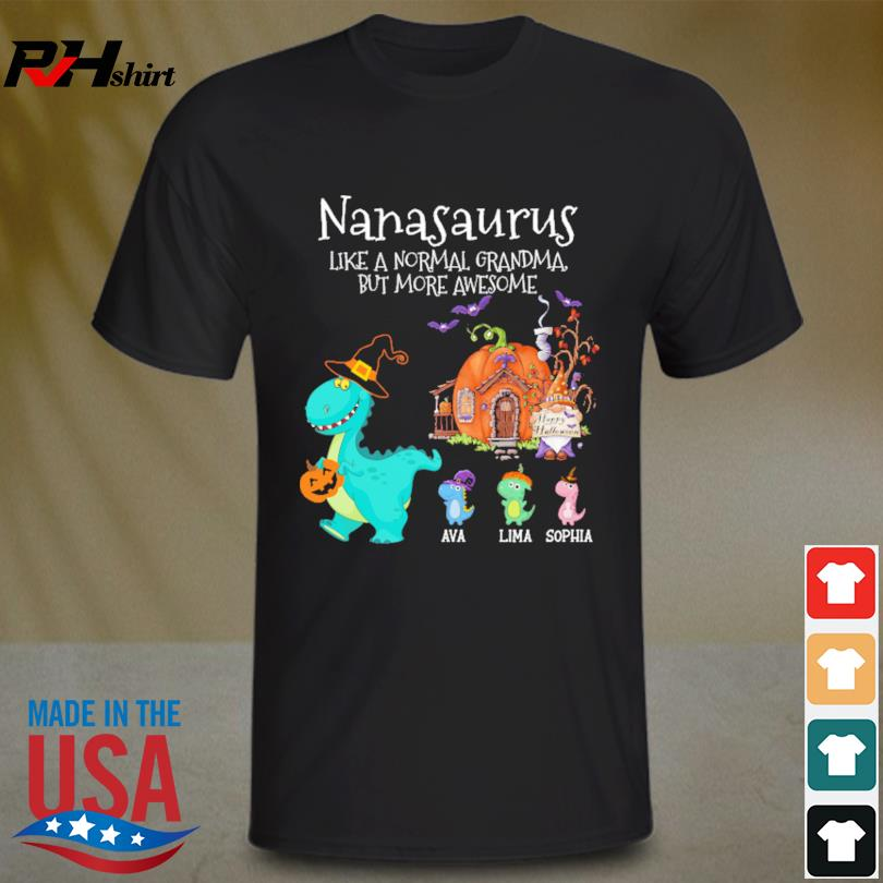 Personalized Nanasaurus Witch But More Awesome Halloween shirt