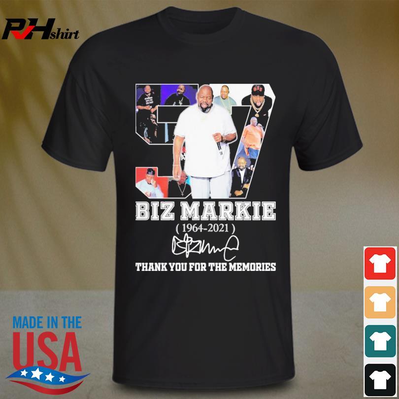 Biz Markie 1964 2021 thank you for the memories signature shirt