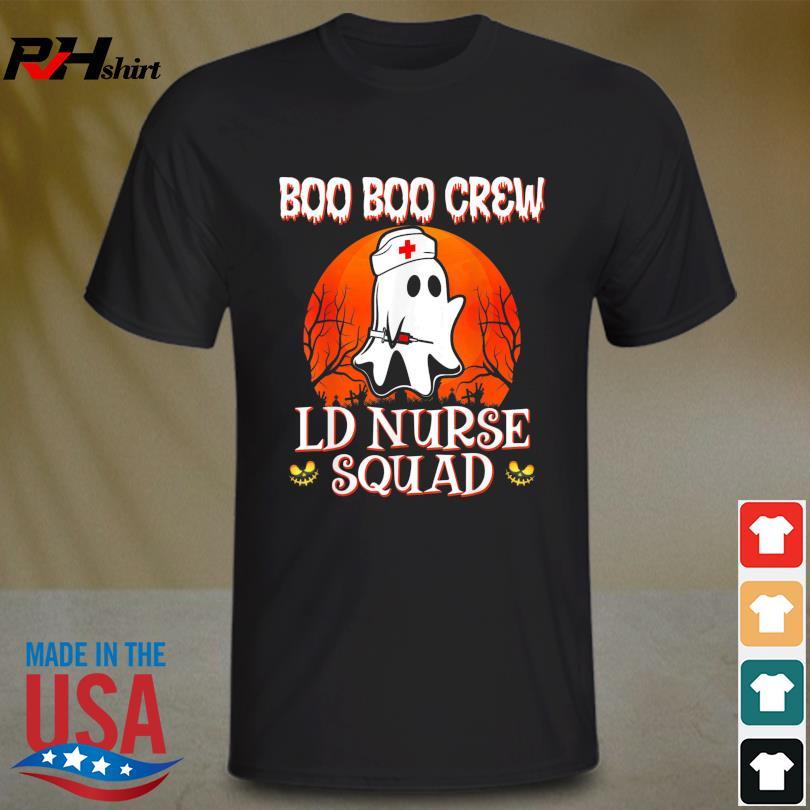 Boo Boo Crew LD Nurse Squad Cute Halloween Costumes Ghost Shirt