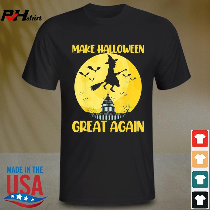 Donald Trump Make Halloween Great Again Halloween Moon shirt