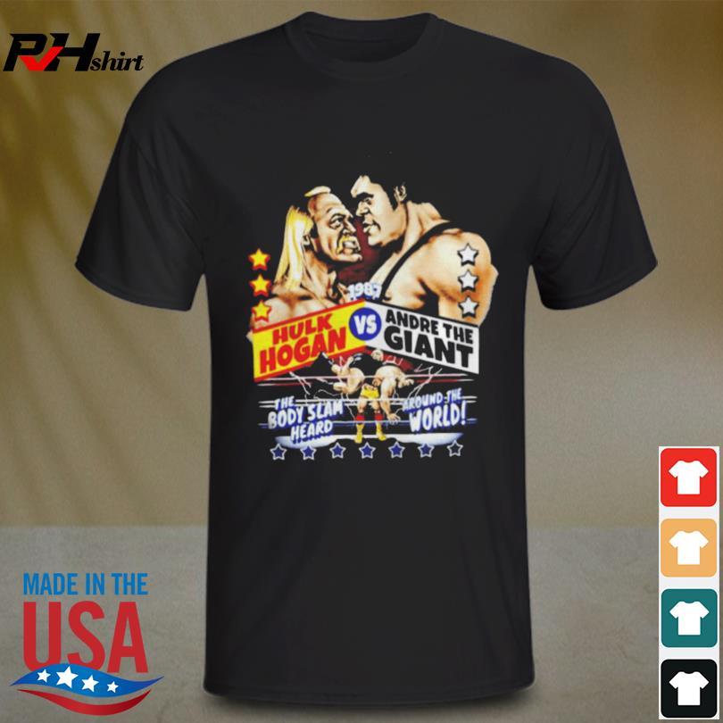 Hulk hogan vs andre the giant 1987 shirt