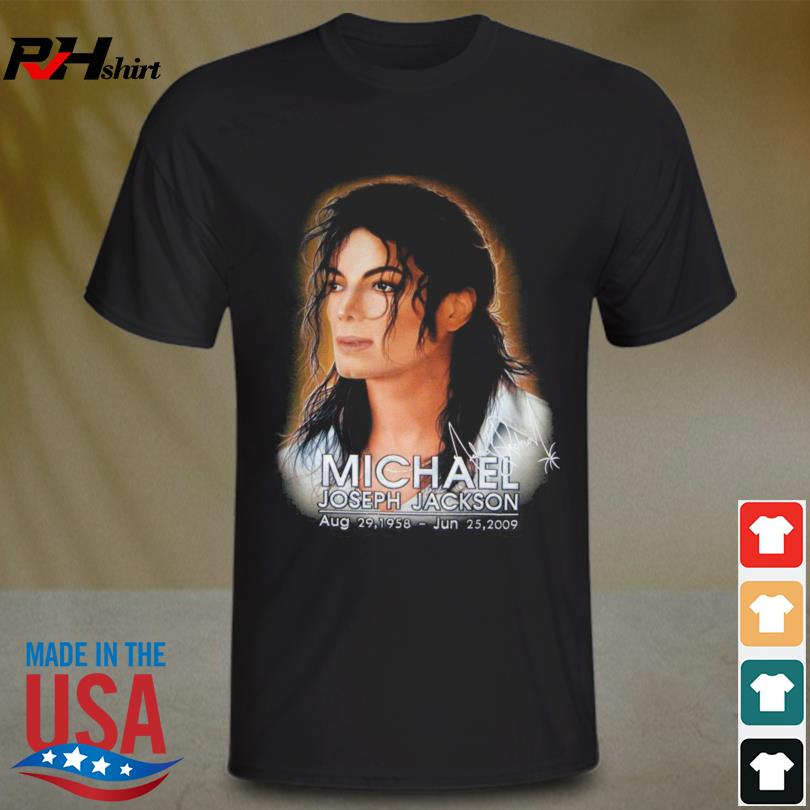 Michael Joseph Jackson Aug 29 1958 June 25 2009 signature shirt