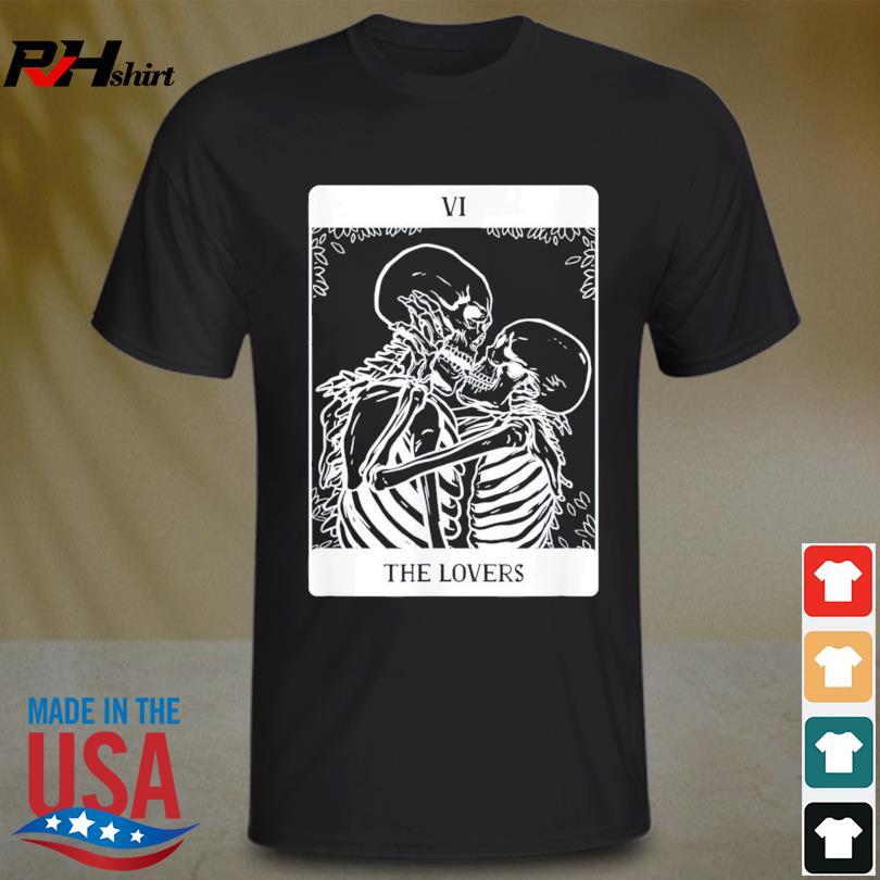 Tarot Cards The Lovers Skull Skeleton Shirt