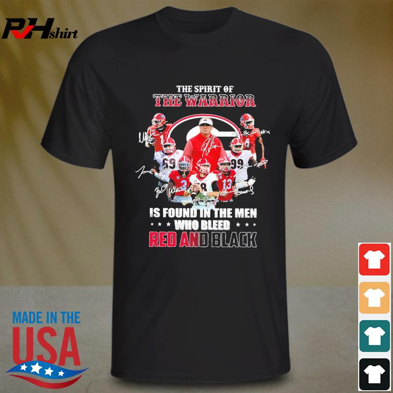 The spirit of The warrior is found in the men who bleed Red and Black signatures shirt