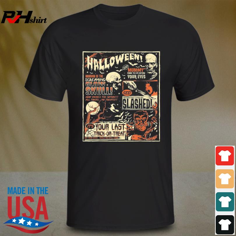 Vintage Horror Movie Shirts Poster Terror Old Time Halloween Shirt